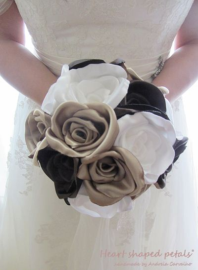 bridal fabric bouquets