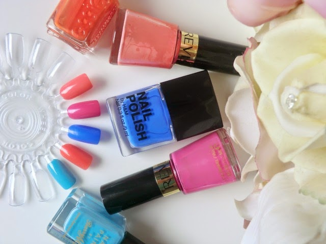 My Top Five Summer Brights Nail Polishes blog