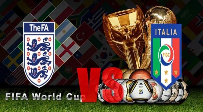 Prediksi Skor PIALA DUNIA Paling Jitu Inggris vs Italia Jadwal 15 Juni 2014