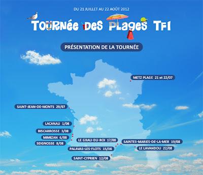 TF1: TOURNÉE DES PLAGES 2012