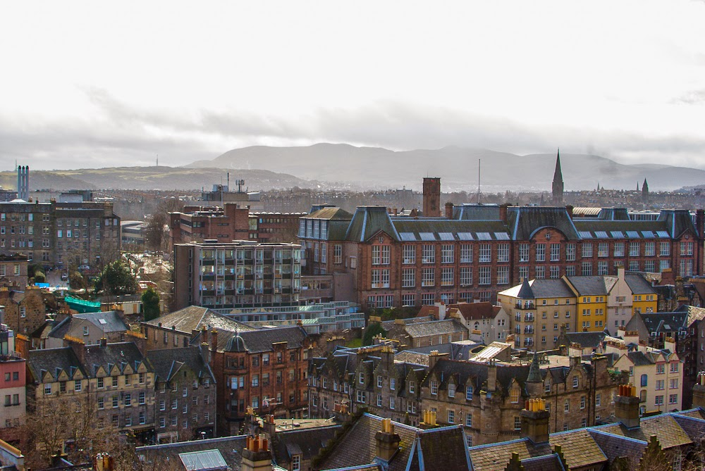 View of Edinburgh city old town