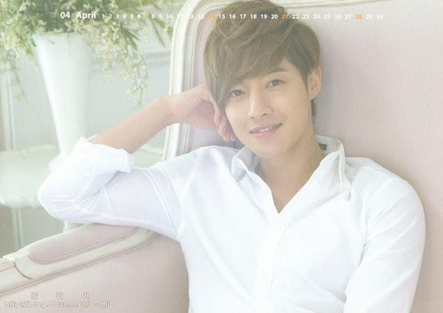 kathy u0026 39 s bench  handsome kim hyun joong  uae40 ud604 uc911 scans from 2013 kim hyun joong official calendar