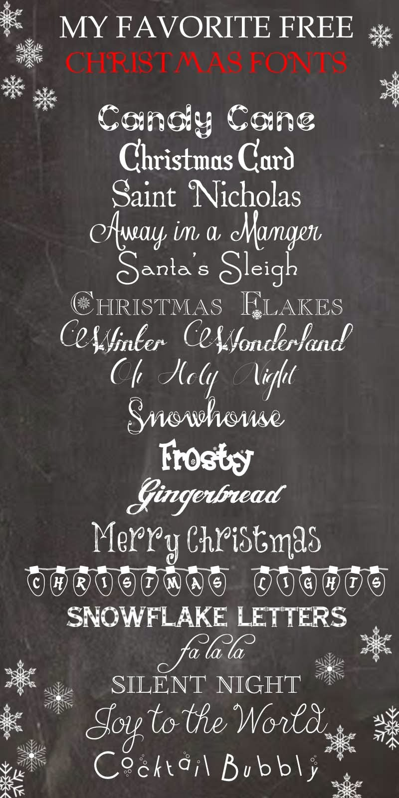 Favorite free christmas fonts from herecomesthesunblog net