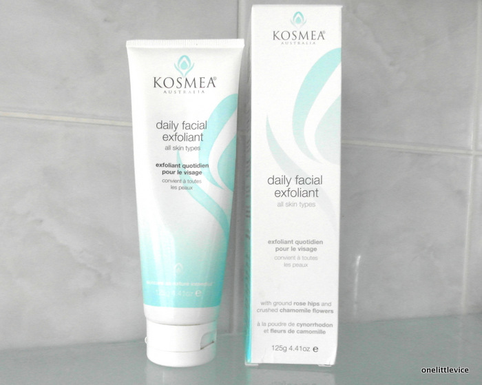 One Little Vice Beauty Blog: Organic Skincare Kosmea Exfoliater