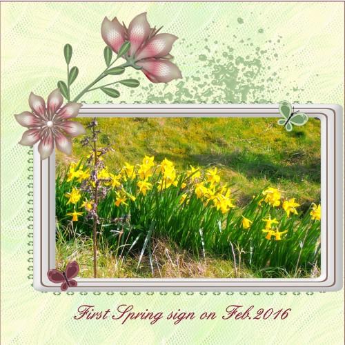 April 2016 First Spring sign