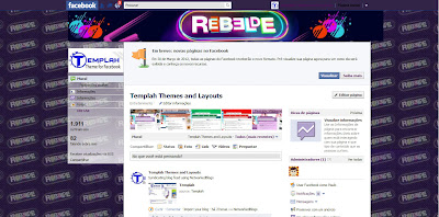 Tema skin para Facebook com Rebelde br