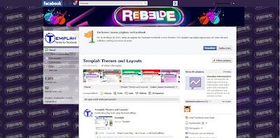 Tema skin para Facebook com Rebelde br