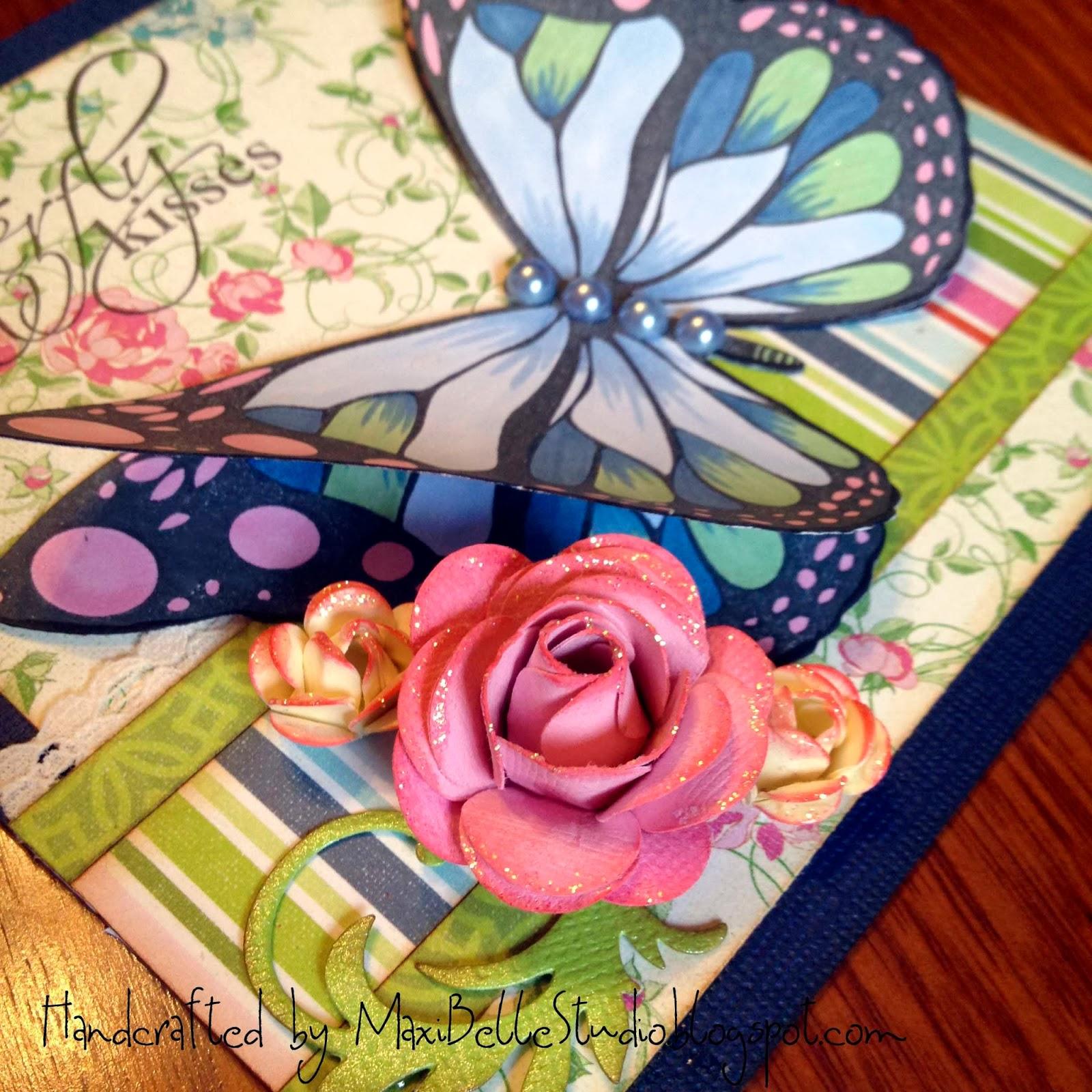 butterfly handmade roses kaszazz flutterby