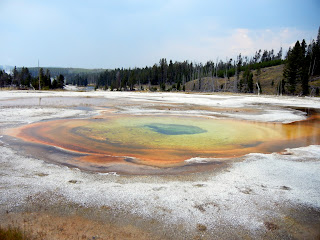 Beauty pool on Geyser Hill in Yellowstone National Park in Wyoming