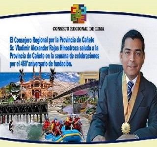 CONSEJERO DE LA REGIÓN LIMA, VLADIMIR ALEXANDER ROJAS HINOSTROZA