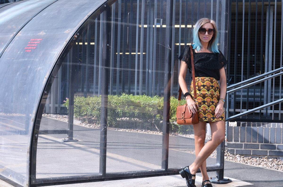 A Line Skirt from River Island on Rock On Holly Blog