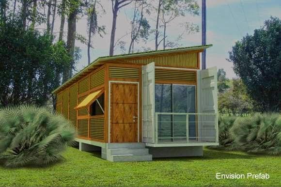 Arquitectura de casas peque a casa container en estados - Casas prefabricadas contenedores ...