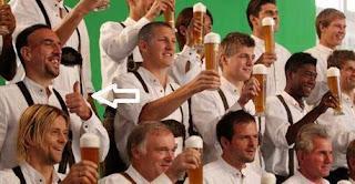 ريبري يرفض الأحتفال بشرب الخمر!