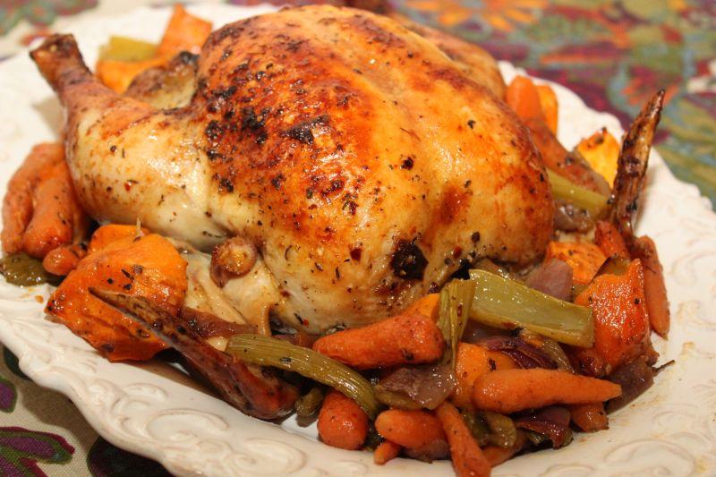 Dalia's Delights: Julia Child's Lemon and Herb Roast Chicken