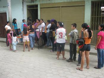 ENTREGA DESAYUNOS INFANTILES CENTRO POBLADO VILLANUEVA, JULIO DE 2011