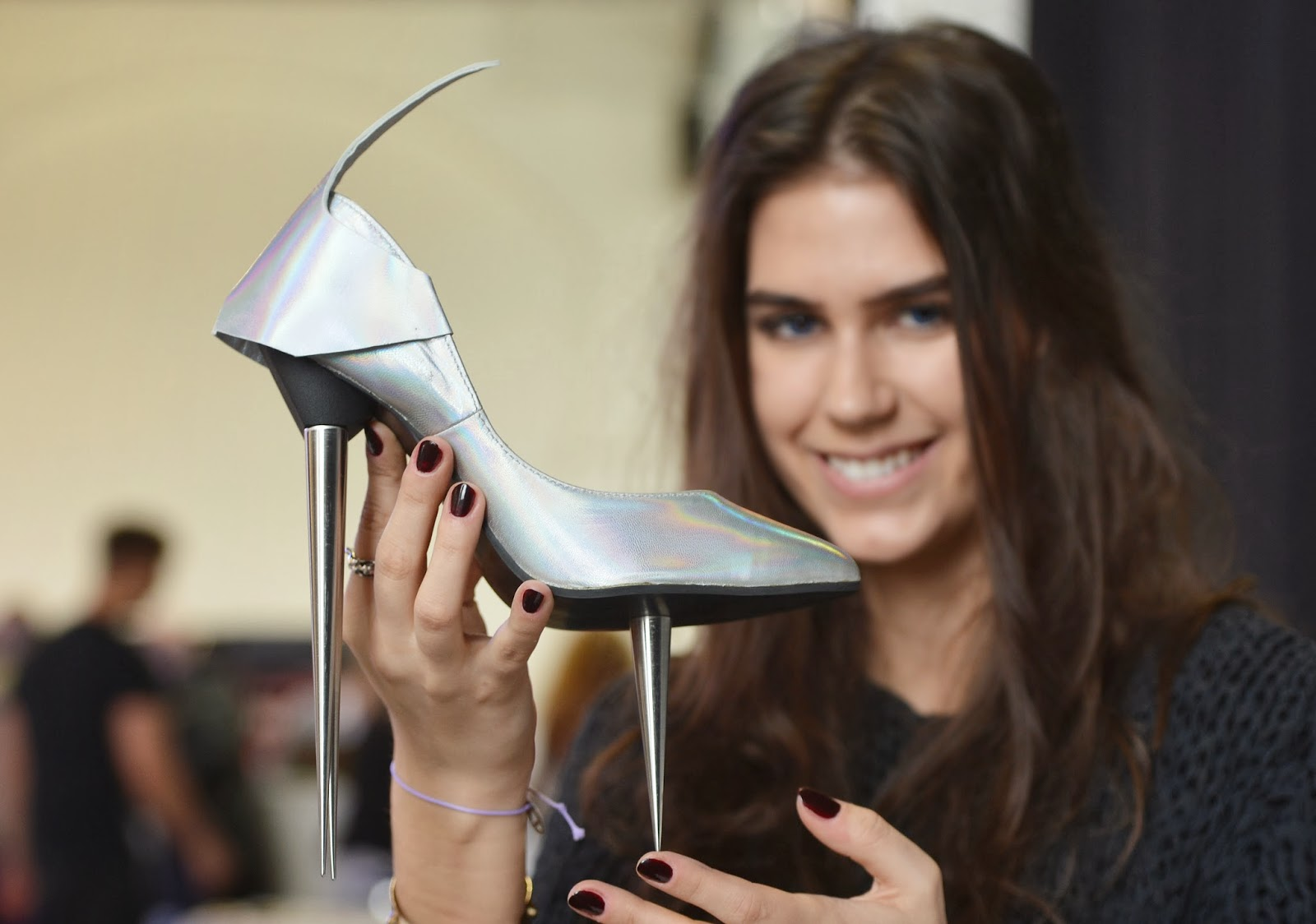 2014 Shoe Fair, Agata, Berlin, British, Business, Carbon fiber, Designer, Eniko Toth-Kern, Fashion, Futuristic Collection 2025, Germany, Hungarian, Model, Mojito, Postbahnhof, Show, Trade Show, What About Shoes, Women,