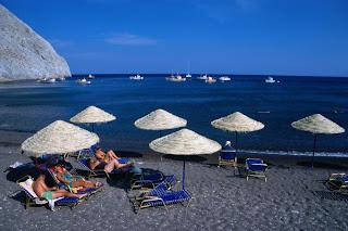 santorini beach perissa