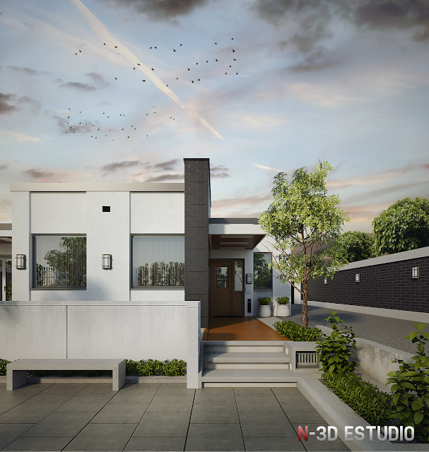 N 3d for Setting render vray sketchup exterior