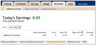 Google AdSense overview on blogger