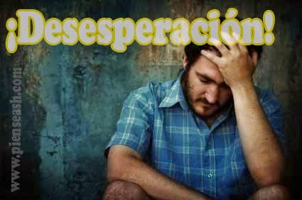 Hombre desesperado