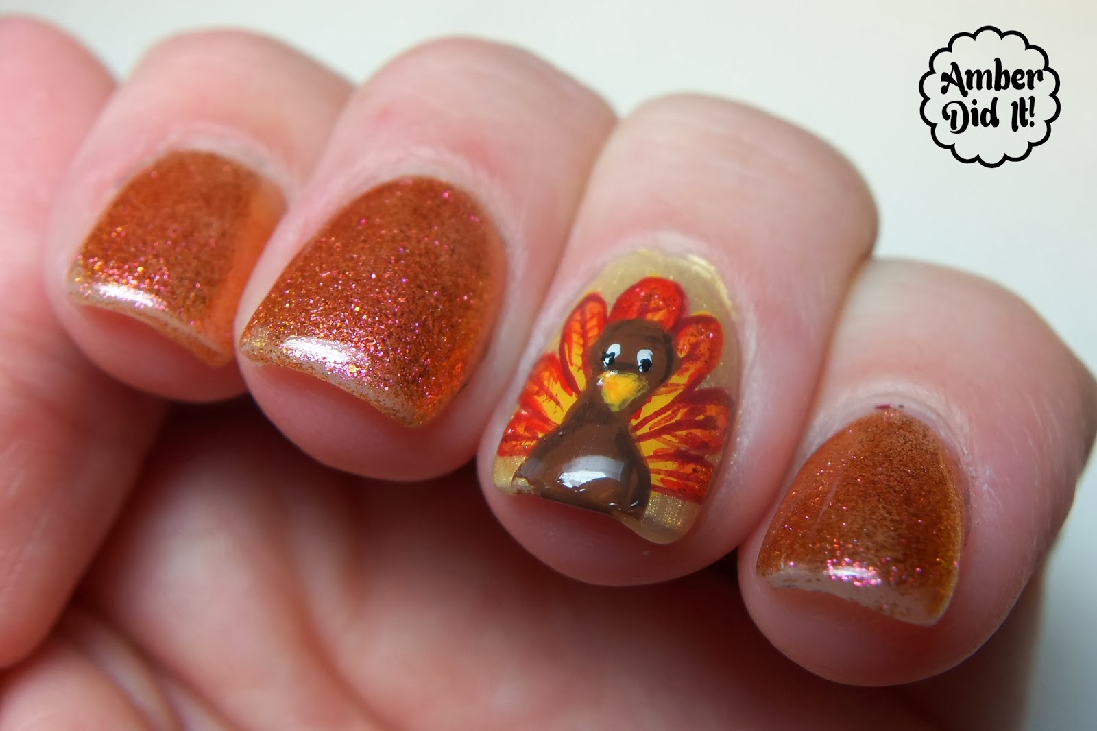 Nails for thanksgiving beautify themselves with sweet nails in the city and the accent nail is gelish allure with the turkey prinsesfo Image collections