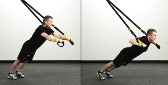 My Broken Ankle =(: Day 105 - TRX and Half Yoga Ball tired ...