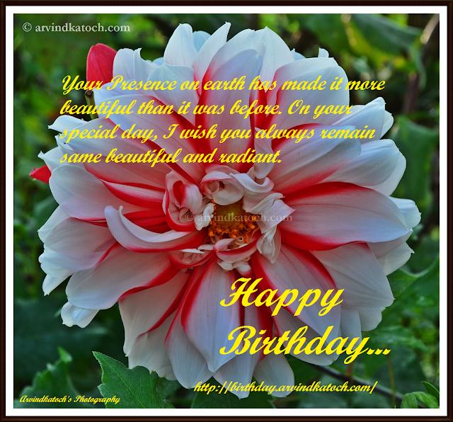beautiful, presence, earth, Birthday, Card HD, Happy Birthday, Flower Birthday Card