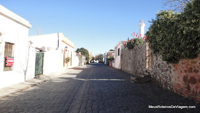 Rua de pedra em Colonia del Sacramento - Uruguai