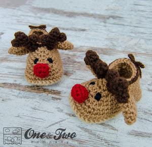 Reindeer Booties