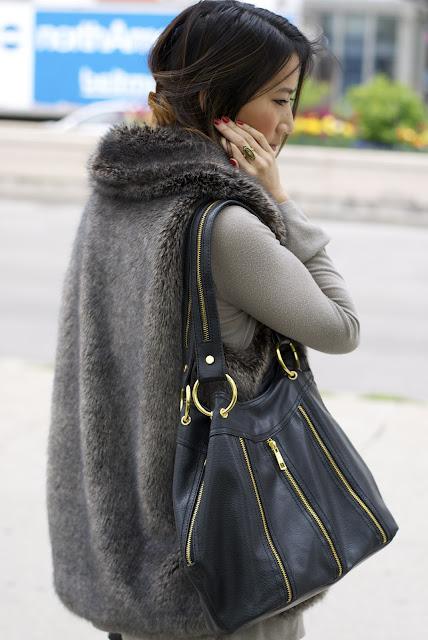 Macy's Faux Fur Vest