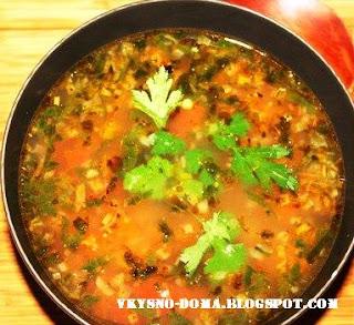 Суп Харчо в чугунном казанке