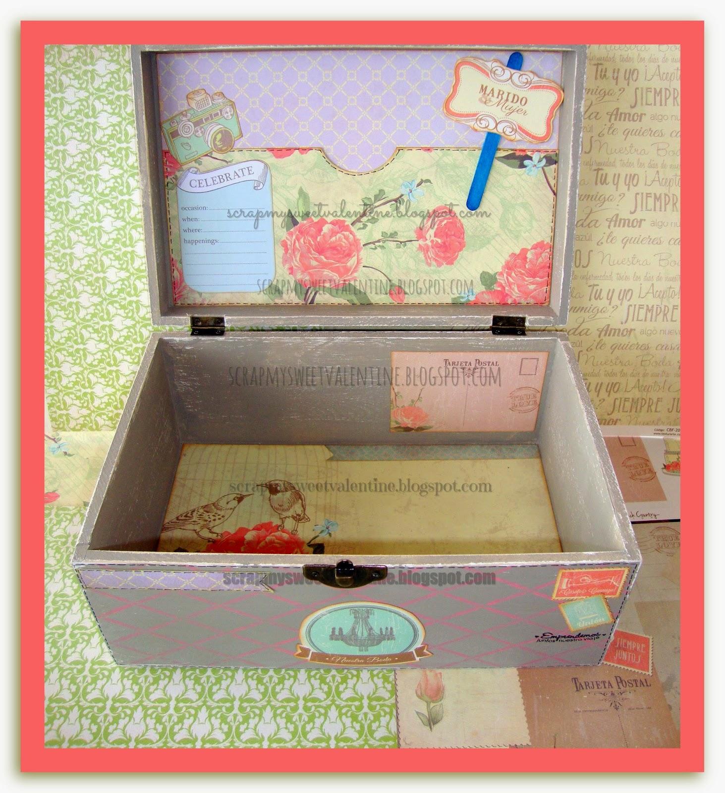 regalo boda hecho a mano una caja que les traer muchos recuerdos