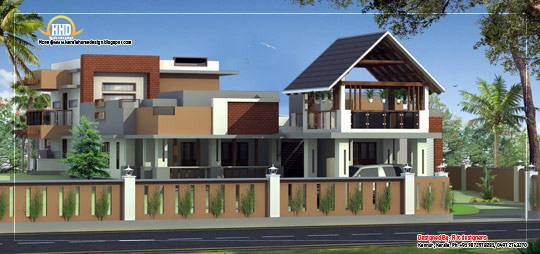 Modern Contemporary House Elevation - February 2012