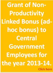 Productivity Linked Bonus 2013-14
