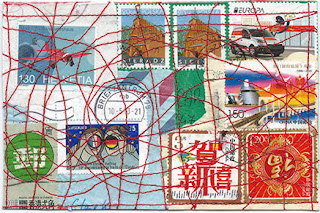 Stitched Postage Postcard