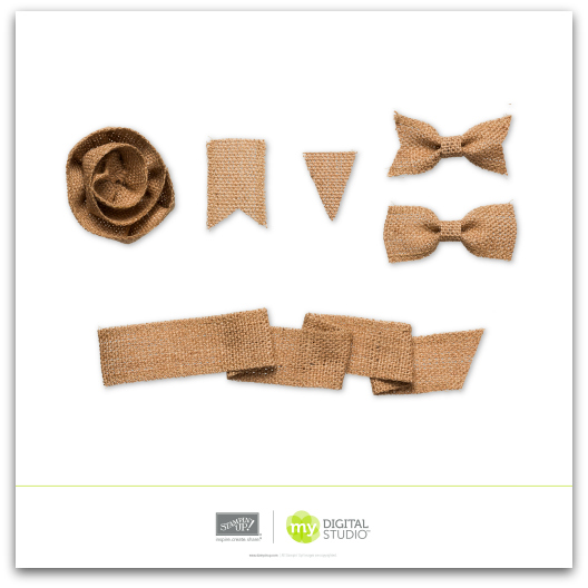 Stampin' Up! Burlap Ribbon Embellishments Digital Download