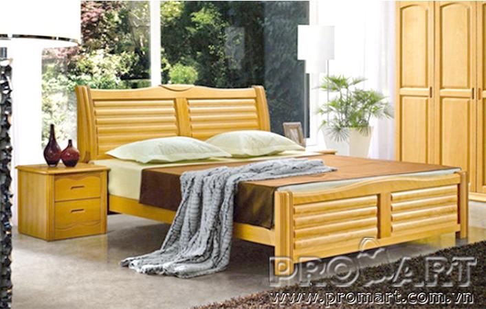 Giường đôi gỗ tự nhiên GDO1802 1.8 x 2m