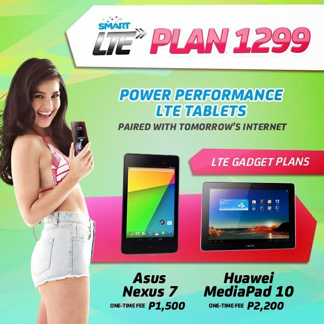 Huawei MediaPad 10 Link LTE Tablet or Asus Nexus 7 in Smart Plan 1299