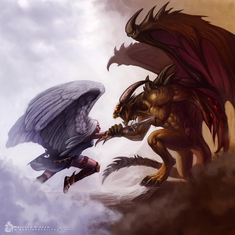 in Angel Gothic Wallpapers   Demon Gothic Wallpapers   Tags  Angel vs    Angel Warriors Vs Demons