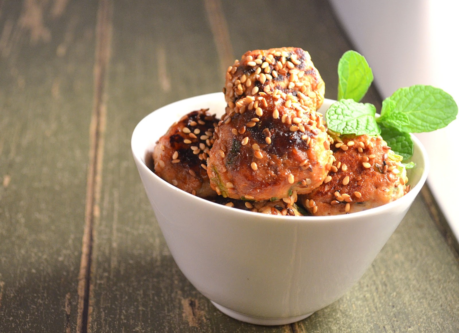 Jilly...Inspired : Mini Sticky, Sweet & Spicy Sesame Chicken Meatballs