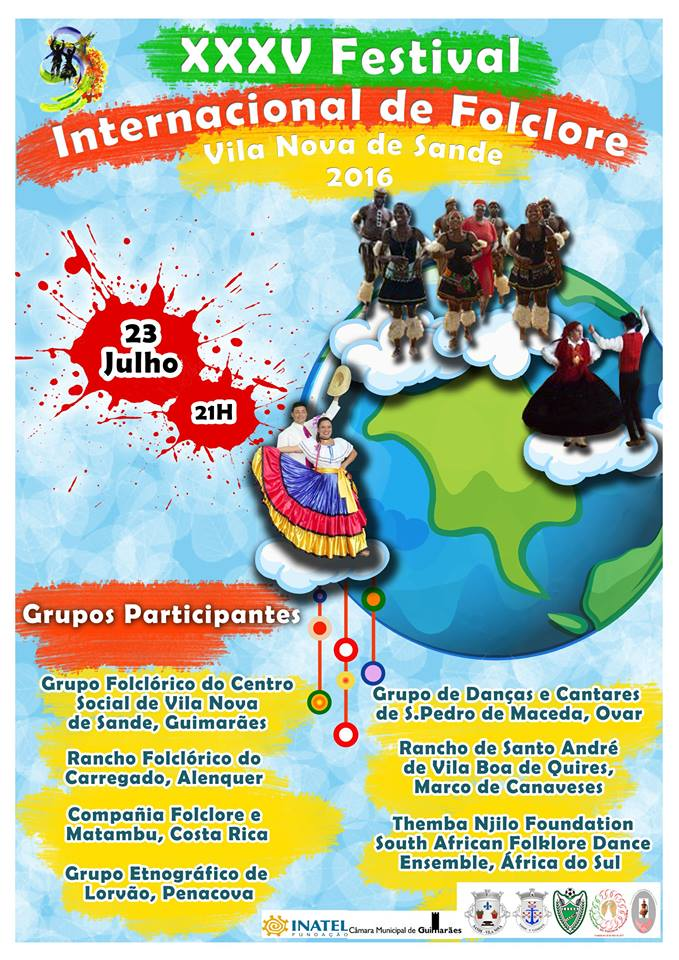Cartaz Oficial do XXXV Festival Internacional de Folclore - Vila Nova de Sande 2016