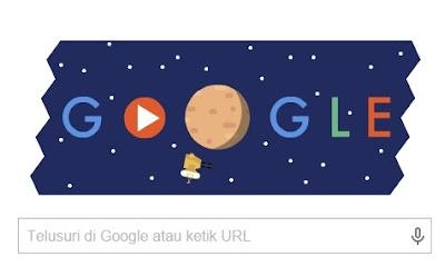 "Gambar Animasi ""New Horizons Pluto Fly"" Hari Ini di Google Doodle"