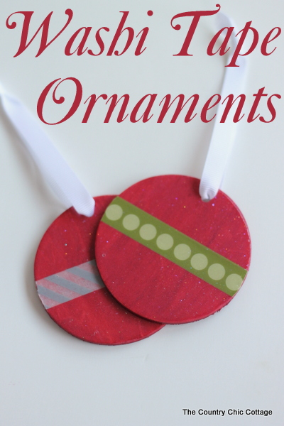 washi tape ornaments
