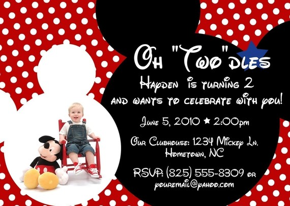 Mickey Mouse 2Nd Birthday Invitations for your inspiration to make invitation template look beautiful