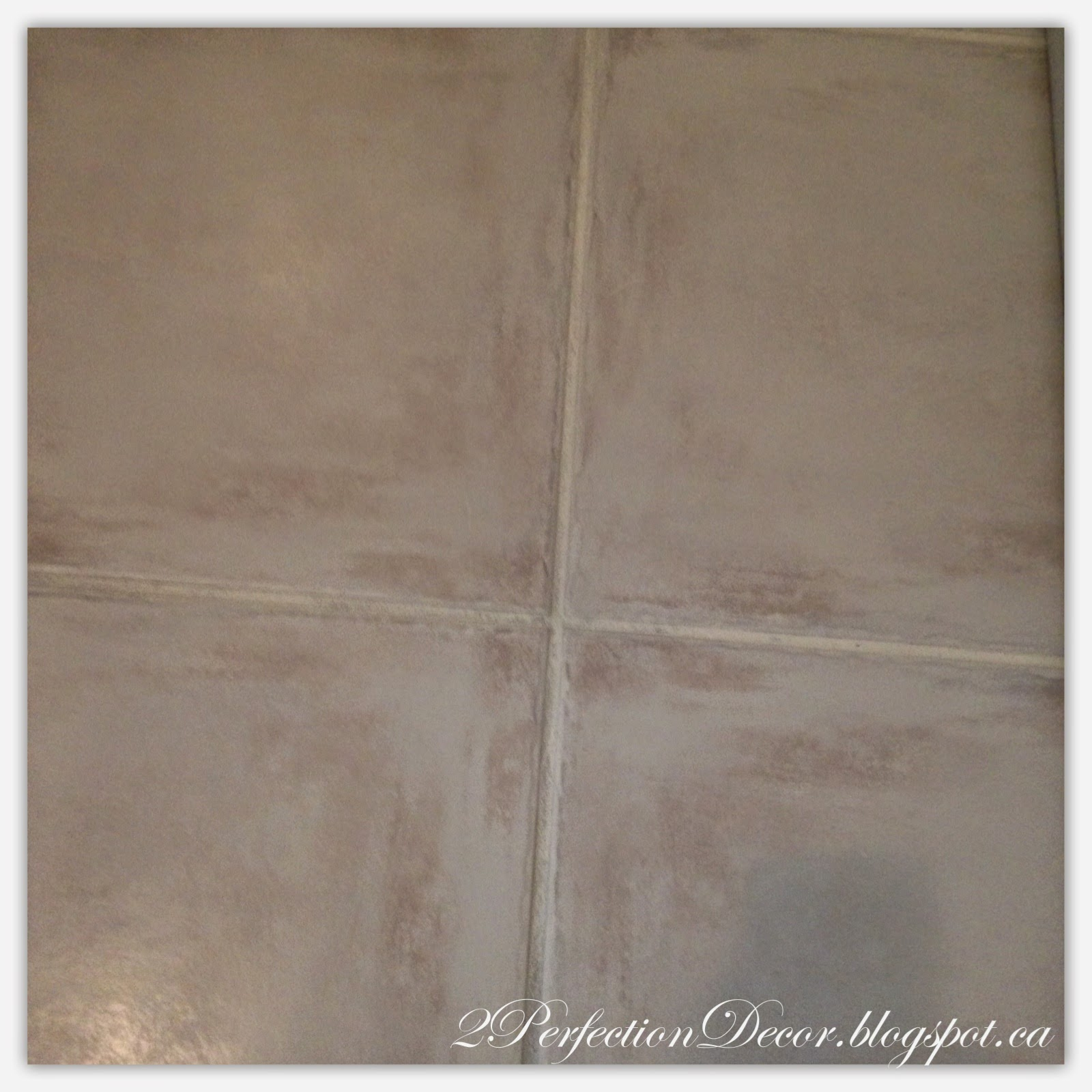 2perfection decor how to paint dark grout 39 white 39 for How to make grout white again