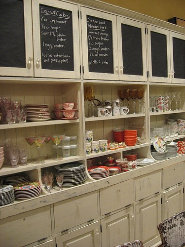 Dishfunctional designs chalk it up creative uses for for Chalkboard paint kitchen cabinets