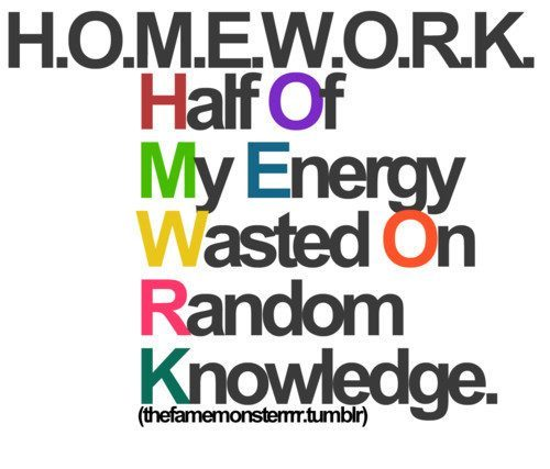 do (one's) homework