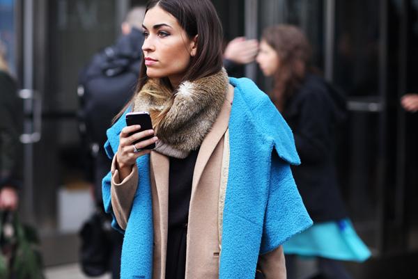 neon blue coat