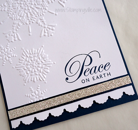 Peace On Earth Christmas Card Details CloseUp