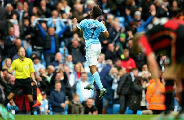 Selebrasi Sterling MCFC - Premier League